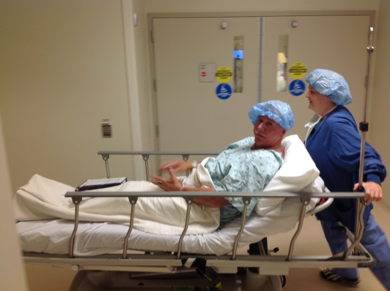 CH-MIKE-on his way to surgery
