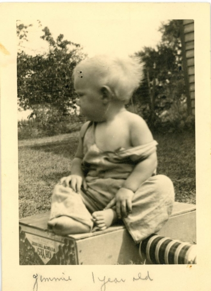 DAD-1 year old on box